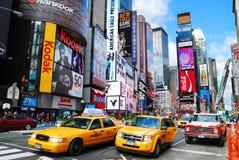 stadsmanhattan nya fyrkantiga tider york Arkivfoton