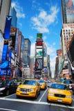 stadsmanhattan nya fyrkantiga tider york Royaltyfria Bilder