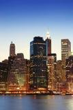 stadsmanhattan nya skyskrapor york Arkivbild