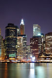 stadsmanhattan nya skyskrapor york Royaltyfria Bilder