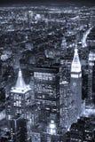 stadsmanhattan nya skyskrapor york Arkivfoton