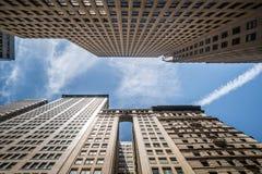 stadsmanhattan nya skyskrapor york Royaltyfri Fotografi