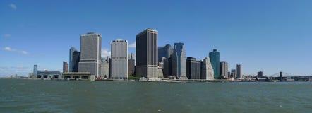 stadsmanhattan scape fotografering för bildbyråer