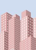 Stadsmening met wolkenkrabbers vector illustratie