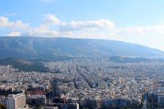 Stadsmening van Athene, Griekenland stock foto's