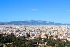 Stadsmening van Athene, Griekenland royalty-vrije stock afbeelding