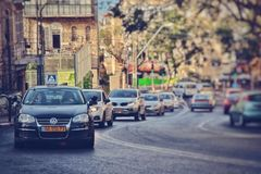 stadsmening van Haifa Stock Fotografie