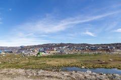 Stadsmening van Ilulissat, Groenland royalty-vrije stock foto's