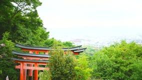 Stadsmening van Kyoto Japan stock footage