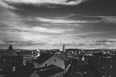 Stadsmening van Nuremberg, een stad in Franconia in de Duitse staat van Beieren stock foto