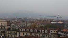 Stadsmening van Turijn op een mistige dag Royalty-vrije Stock Fotografie