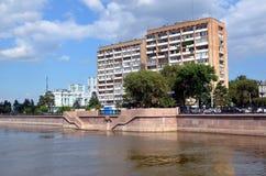 Stadsmeningen van Astrakan Stock Afbeelding