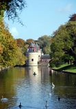 Stadsmeningen van Brugge stock foto's