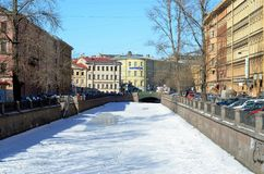 Stadsmeningen van St. Petersburg royalty-vrije stock foto