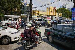 Stadsmilieu Ho Chi Minh Saigon stock afbeeldingen