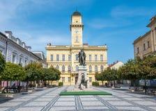 Stadsmitt av Komarno, Slovakien arkivbild