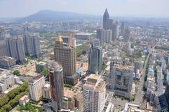 Stadsmitt av Nanjing, Kina Royaltyfri Foto