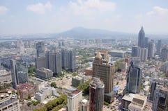 Stadsmitt av Nanjing, Kina Fotografering för Bildbyråer