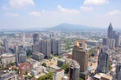 Stadsmitt av Nanjing, Kina Royaltyfri Fotografi