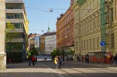 Stadsmitten Brno på April 30, 2016 Brno är den andra - största staden i Tjeckien Royaltyfri Foto