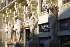 Stadsmitten Brno på April 30, 2016 Brno är den andra - största staden i Tjeckien Arkivbild