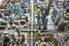 Stadsmodel Stock Afbeelding