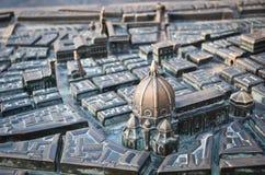 Stadsmodel van Florence Stock Afbeeldingen