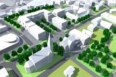 stadsmodell Arkivbild