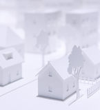 Stadsmodell Royaltyfri Bild