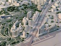 stadsmodell arkivfoto