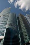 stadsmoscow skyskrapor Royaltyfri Foto