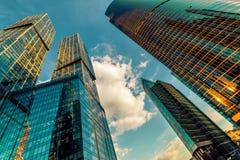 stadsmoscow skyskrapor Royaltyfri Fotografi