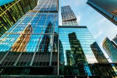 stadsmoscow skyskrapor Arkivfoto