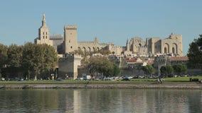 Stadsmuren van Avignon, Frankrijk stock videobeelden