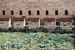 Stadsmuren van Constantinopel in Istanboel, Turkije royalty-vrije stock foto
