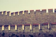 Stadsmuren van Constantinopel in Istanboel, Turkije royalty-vrije stock foto's