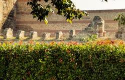 Stadsmuren van Constantinopel in Istanboel, Turkije stock foto