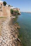 Stadsmuur dichtbij de rivier Bou Regreg. Rabat. Stock Foto