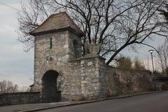 Stadsmuur in Niemcza Royalty-vrije Stock Foto's