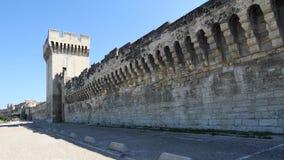 Stadsmuur van Avignon, Frankrijk stock videobeelden