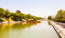 stadsmuur in Xian Stock Fotografie