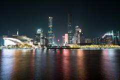 Stadsnatt av guangzhouen Arkivfoto