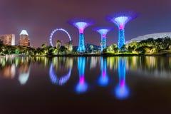 stadsnatt singapore Arkivfoto