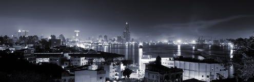 stadsnatthorisont Arkivbilder