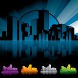 stadsnattscape Arkivbilder