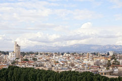 stadsnicosia panorama- sikt royaltyfri fotografi