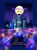 StadsNightscape affisch Royaltyfria Foton