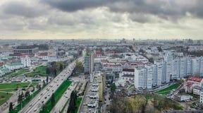 stadsoklarheter över Arkivfoto