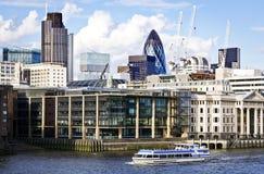 stadsområde finansiella london Arkivbild