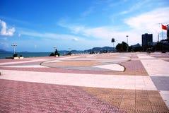 Stadsområde på stranden i Nha Trang Arkivbild